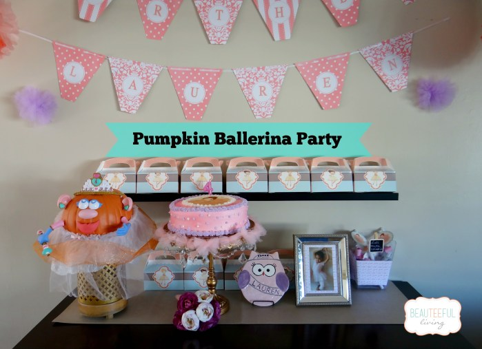 pumpkin ballerina party