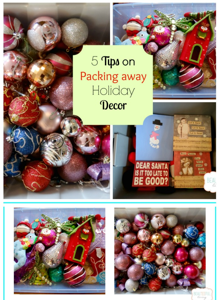 Packing Holiday Decor Tips - Beauteeful Living