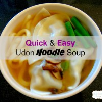 Quick and Easy Udon Noodle Soup