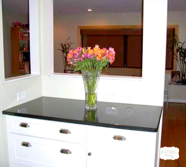 Kitchen renovation flowers