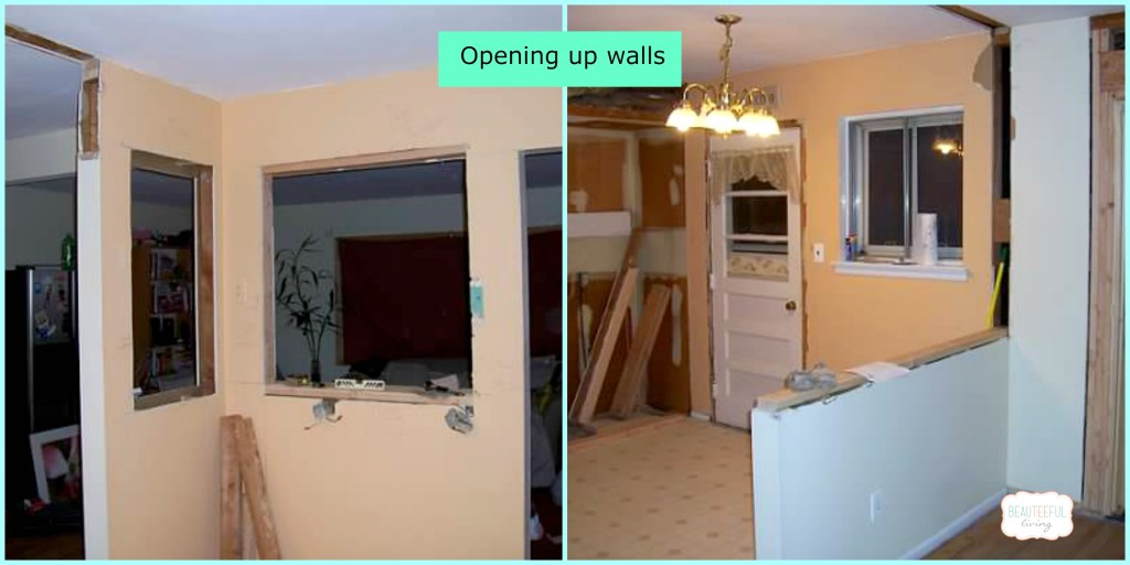 kitchen renovation wall opening
