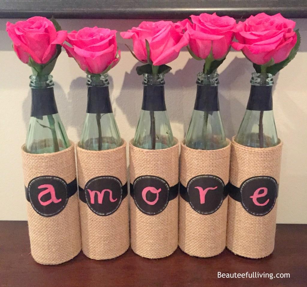 Amore wine bottles beauteefulliving