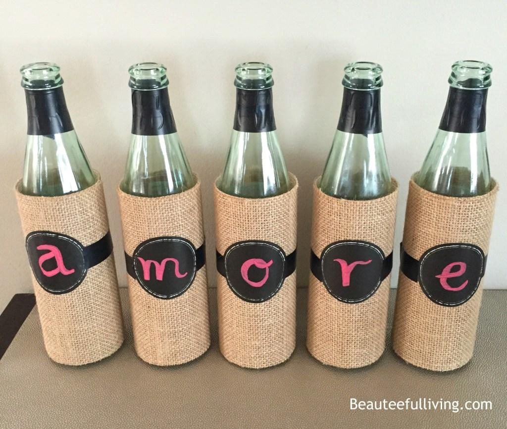 Amore wine bottles