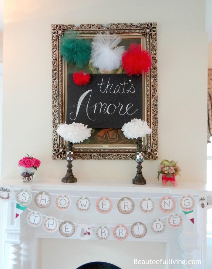 Italian themed bridal shower beauteefulliving