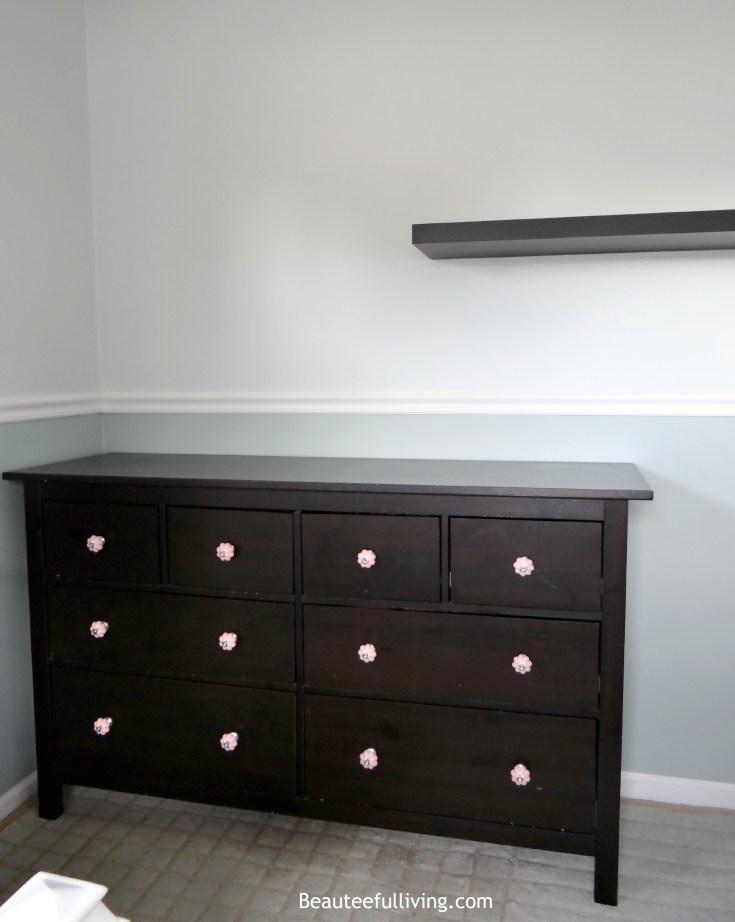 Hemnes dresser with new drawer pulls