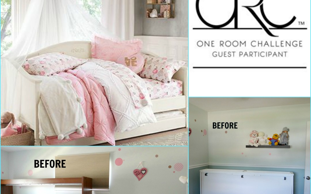 One Room Challenge – Week 1 – Girls Room Before