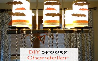 DIY Spooky Chandelier