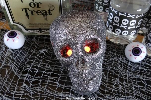 glittery skull
