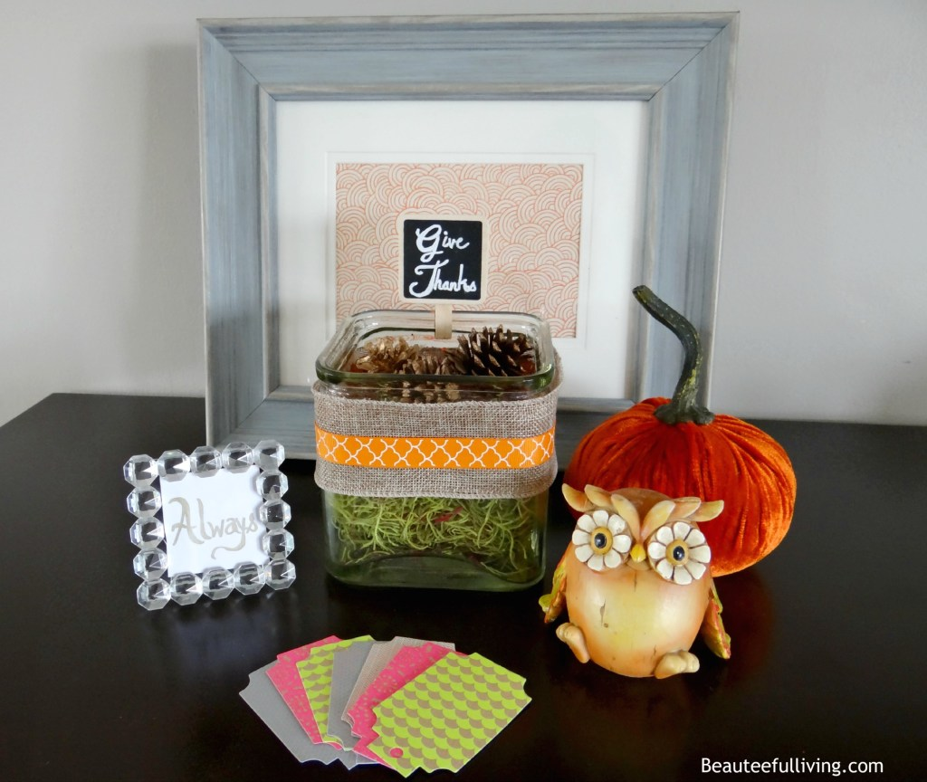 Give Thanks Display - Beauteeful Living