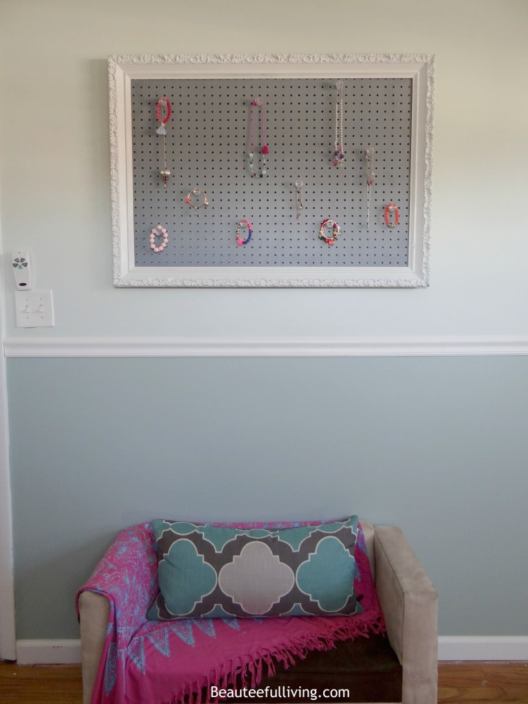 Pegboard and loveseat - Beauteeful Living