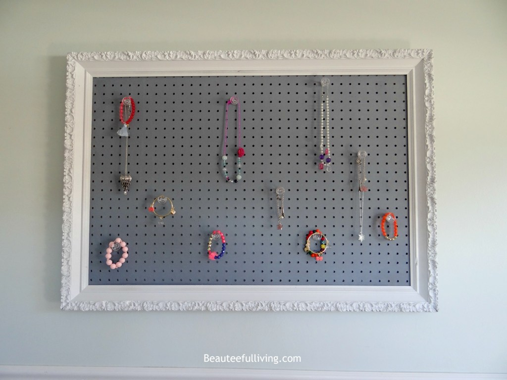 Picture frame jewelry pegboard - Beauteeful Living