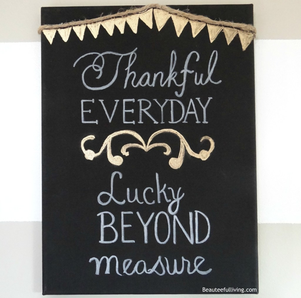 Thankful Everyday Canvas - Beauteeful Living