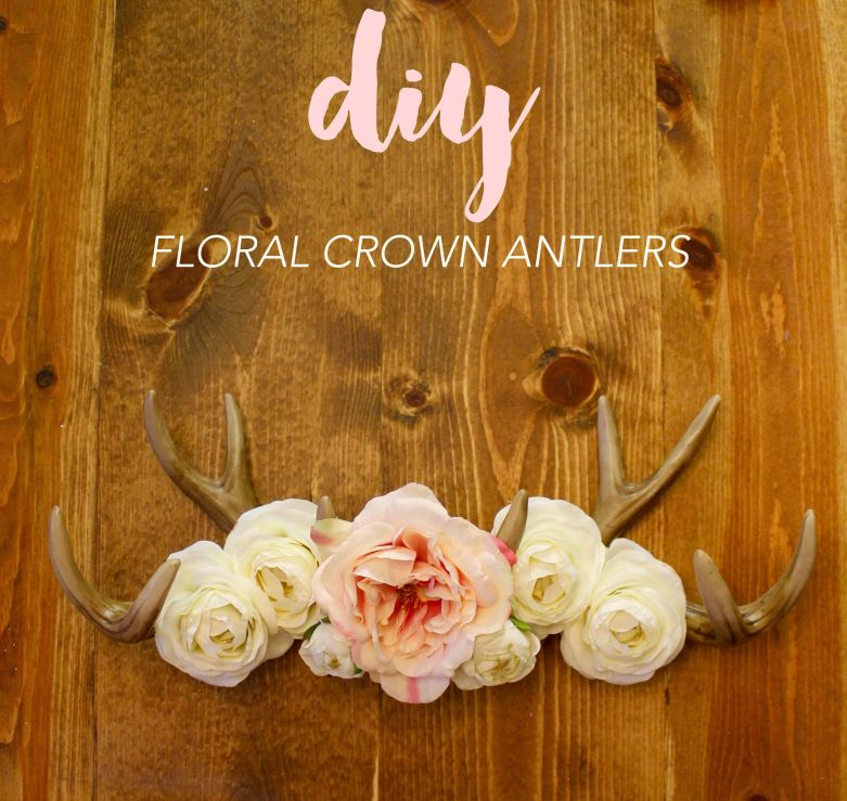 Floral Crown Antlers - Deans List Blog