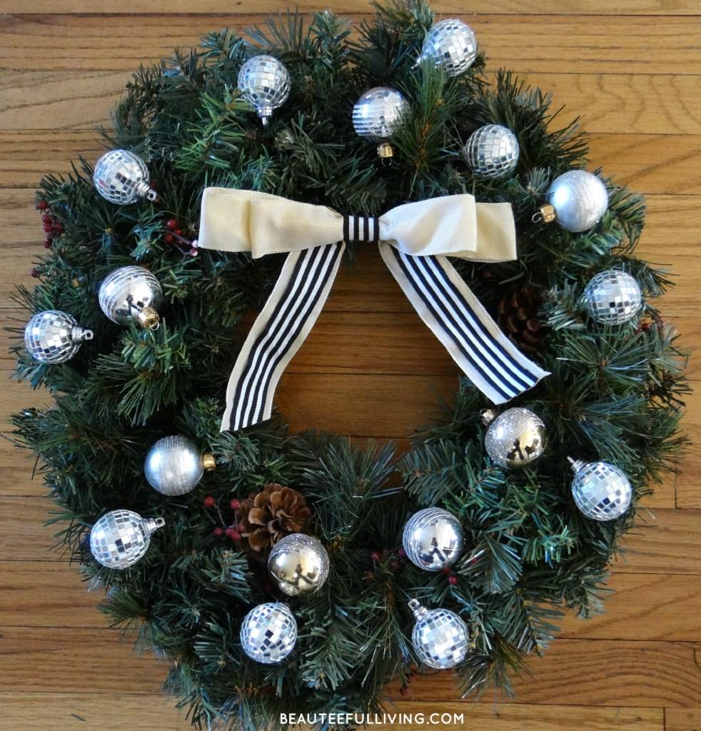 Front door wreath after