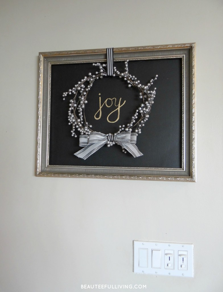 Joy Picture Frame Wreath - Beauteeful Living