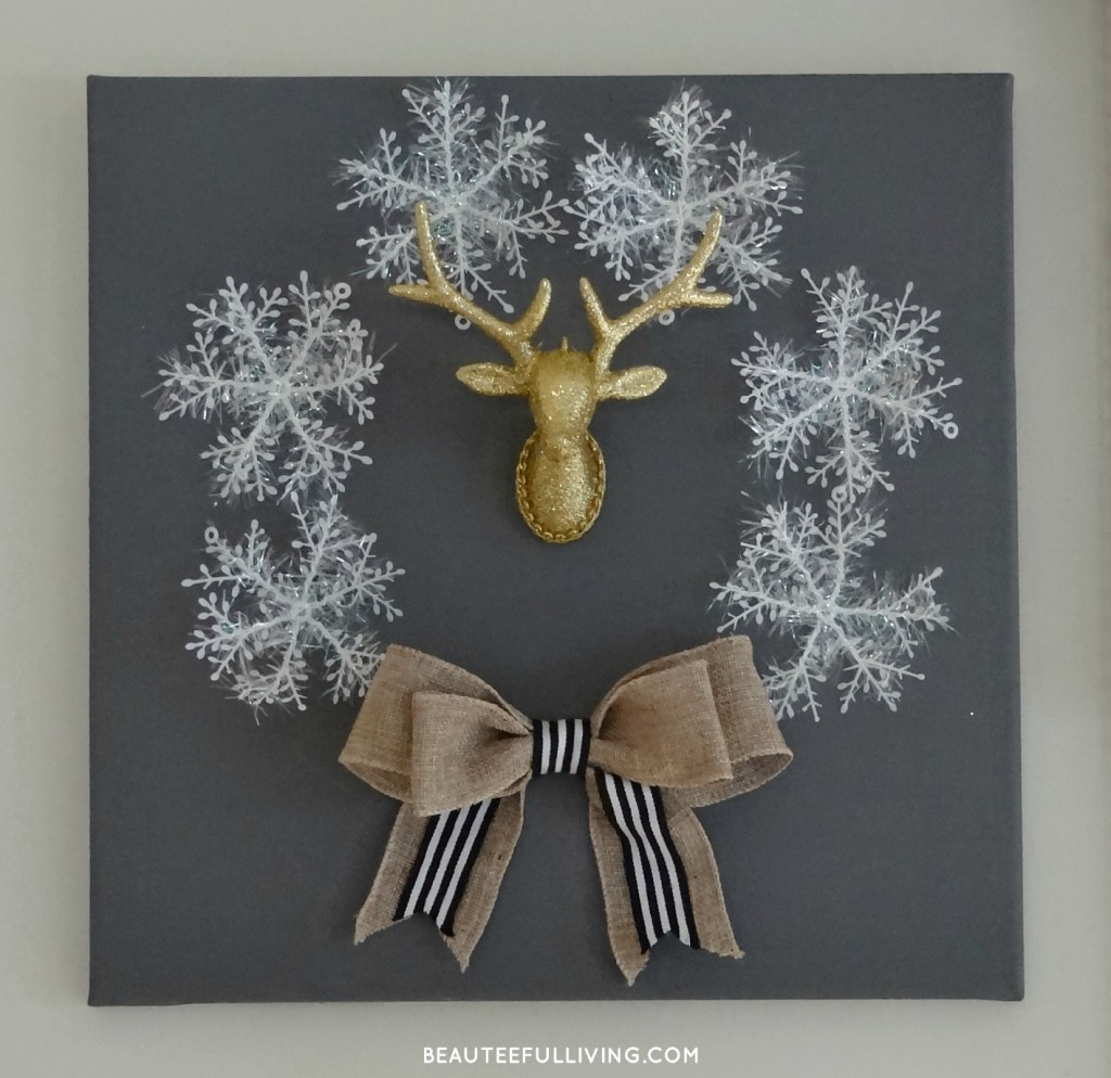 Winter Holiday Canvas Wreath1 - Beauteeful Living