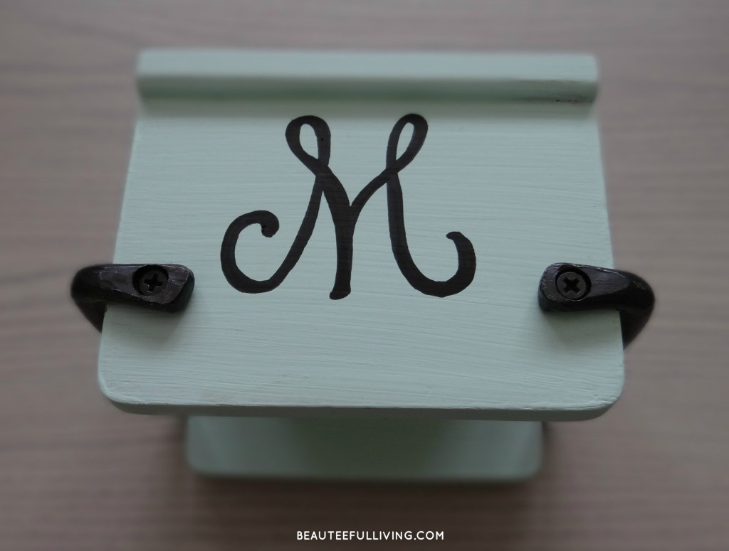 Coaster cover with monogram