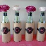 DIY Wine Bottle Vases