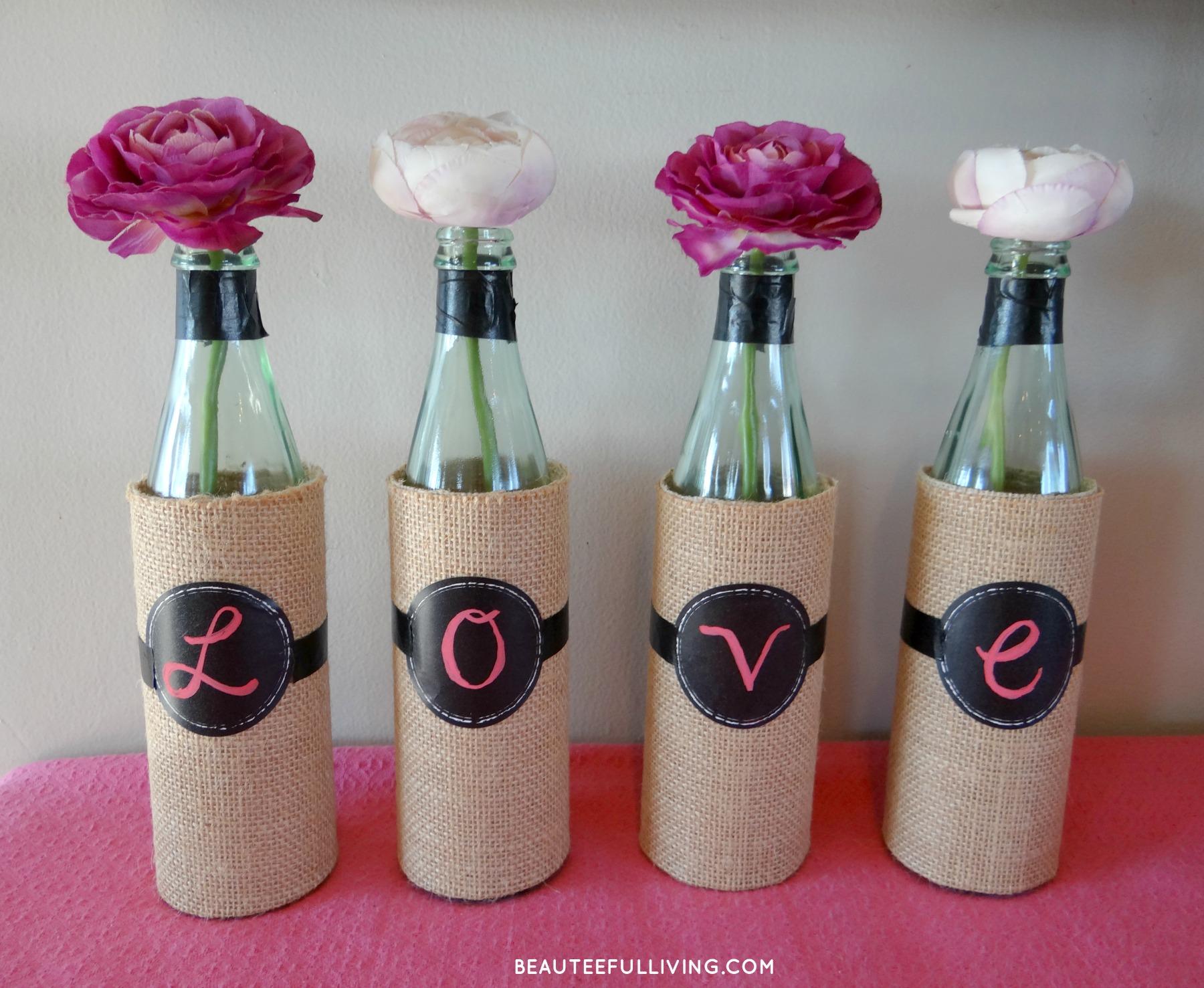 Diy wine bottle vases beauteeful living diy wine bottle vase beauteeful living floridaeventfo Gallery