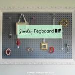 Jewelry Pegboard DIY