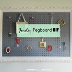 Jewelry Pegboard DIY