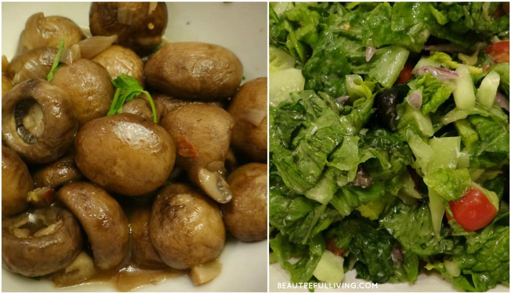 Marsala Mushroom and salad