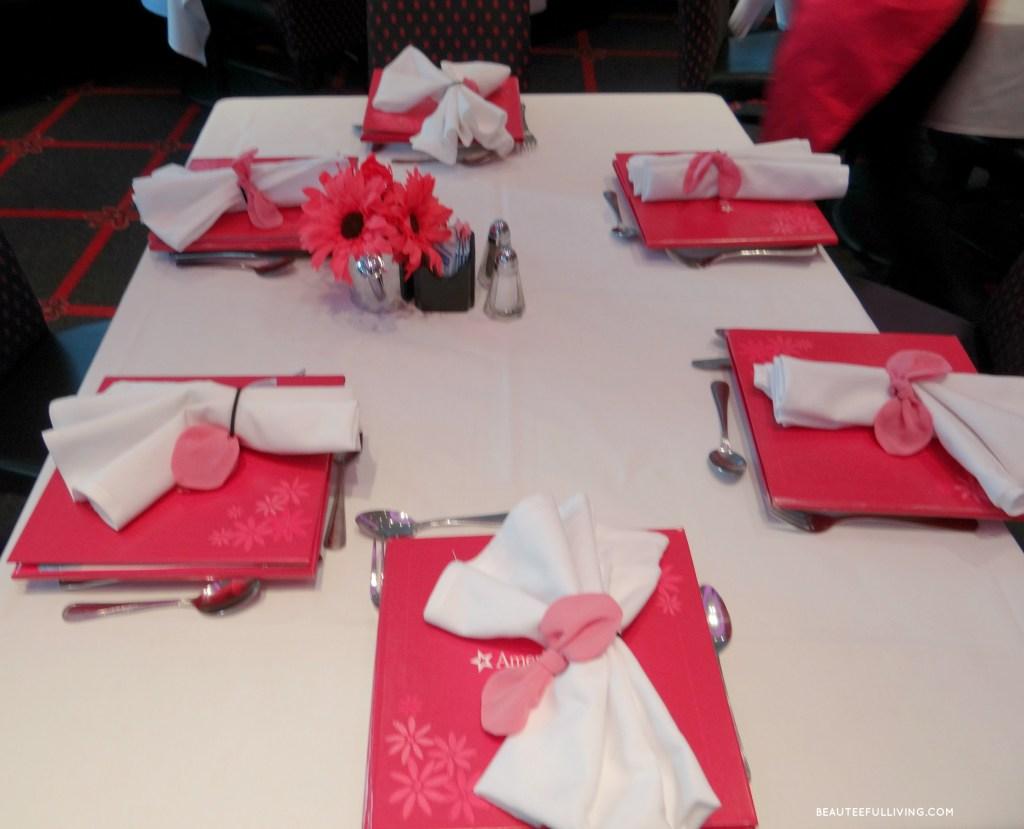 American Girl Cafe Table Setting