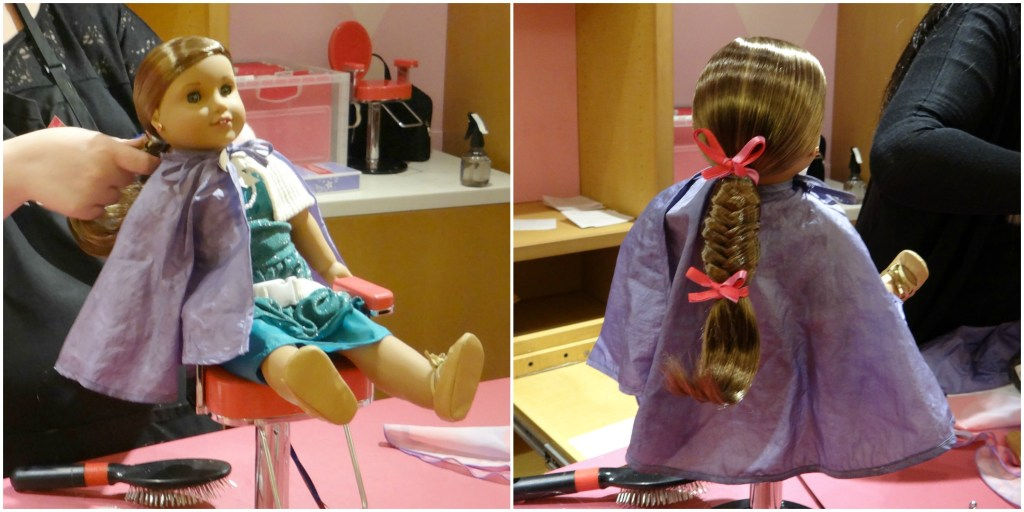 Hair Braiding at American Girl