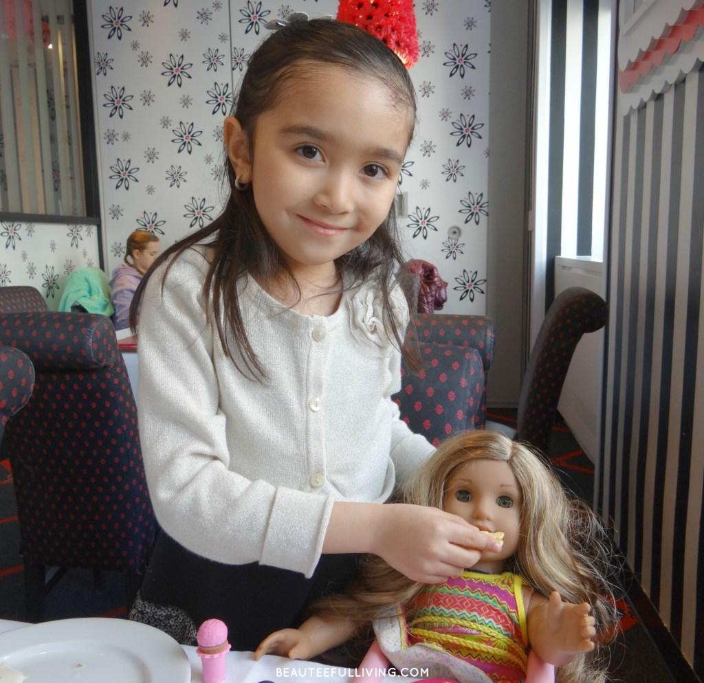 Lauren at lunch with Lea Clark
