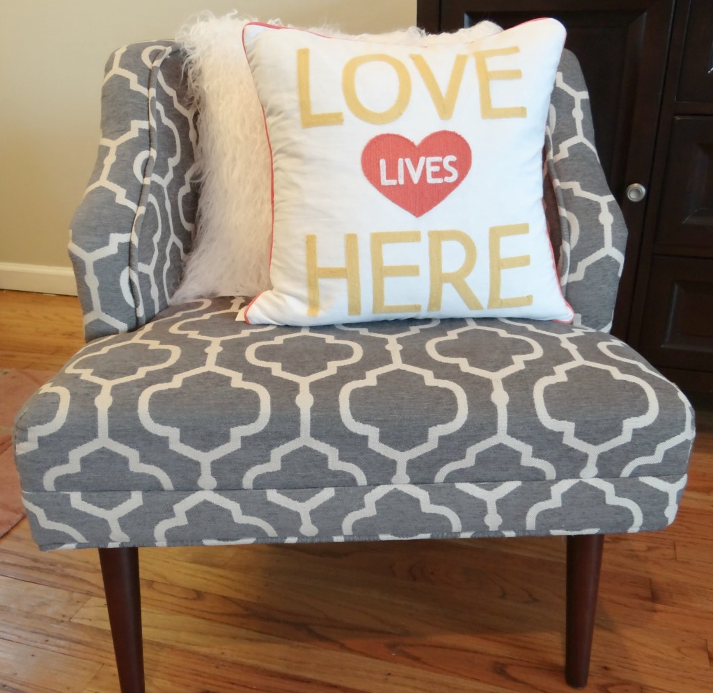 Valentines Pillow in chair