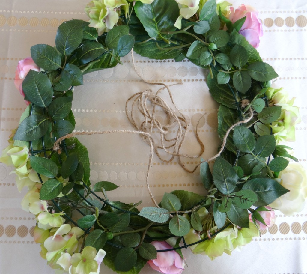 Leaves covering wreath