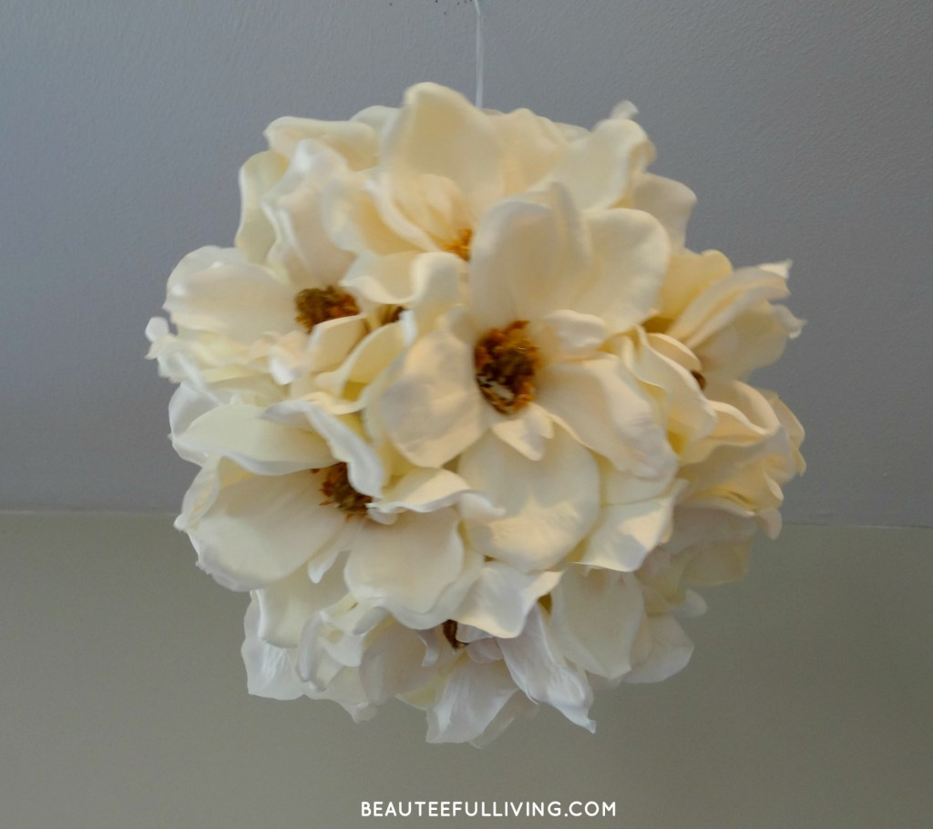 Magnolia Flower Ball - Hanging