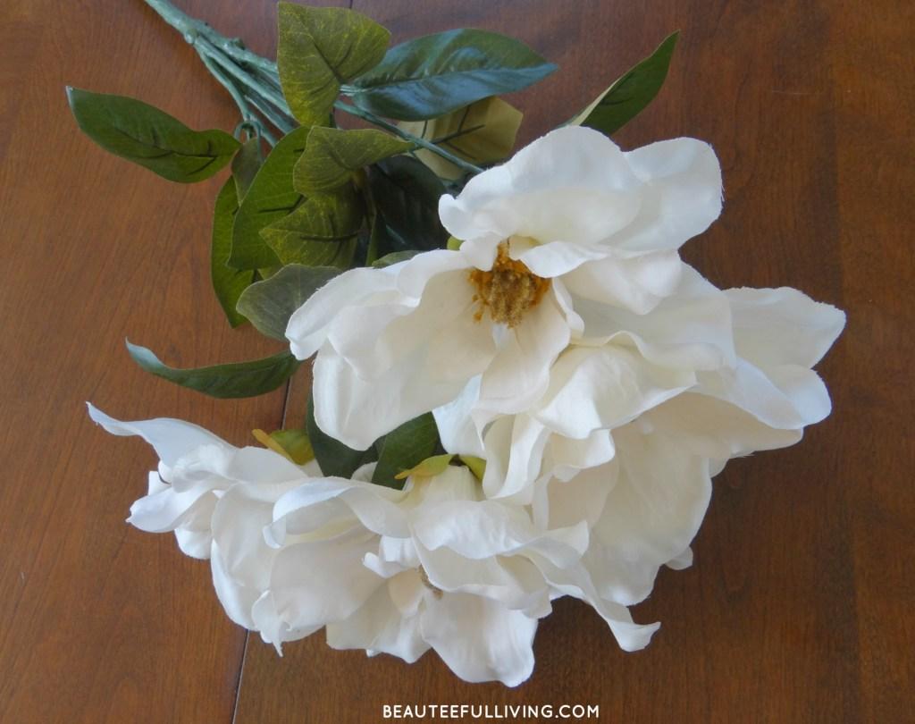Silk Magnolia Flowers