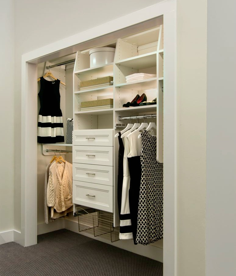 ... Closet Possible White Reach In Showroom Closet
