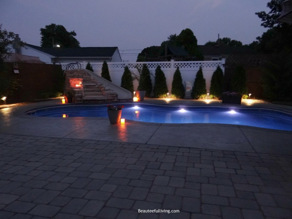 Outdoor Patio Retreat Night View - Beauteeful Living