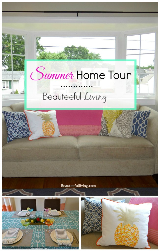Summer Home Tour Pin - Beauteeful Living