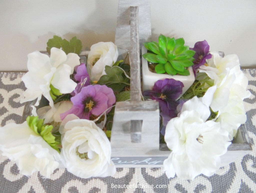 Flowers in flower box - Beauteeful Living