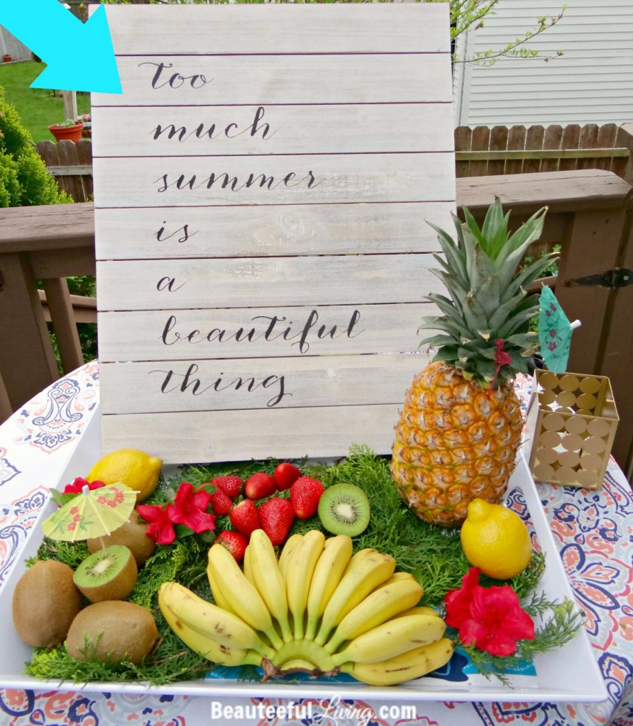 Summer fruit platter - Beauteeful Living