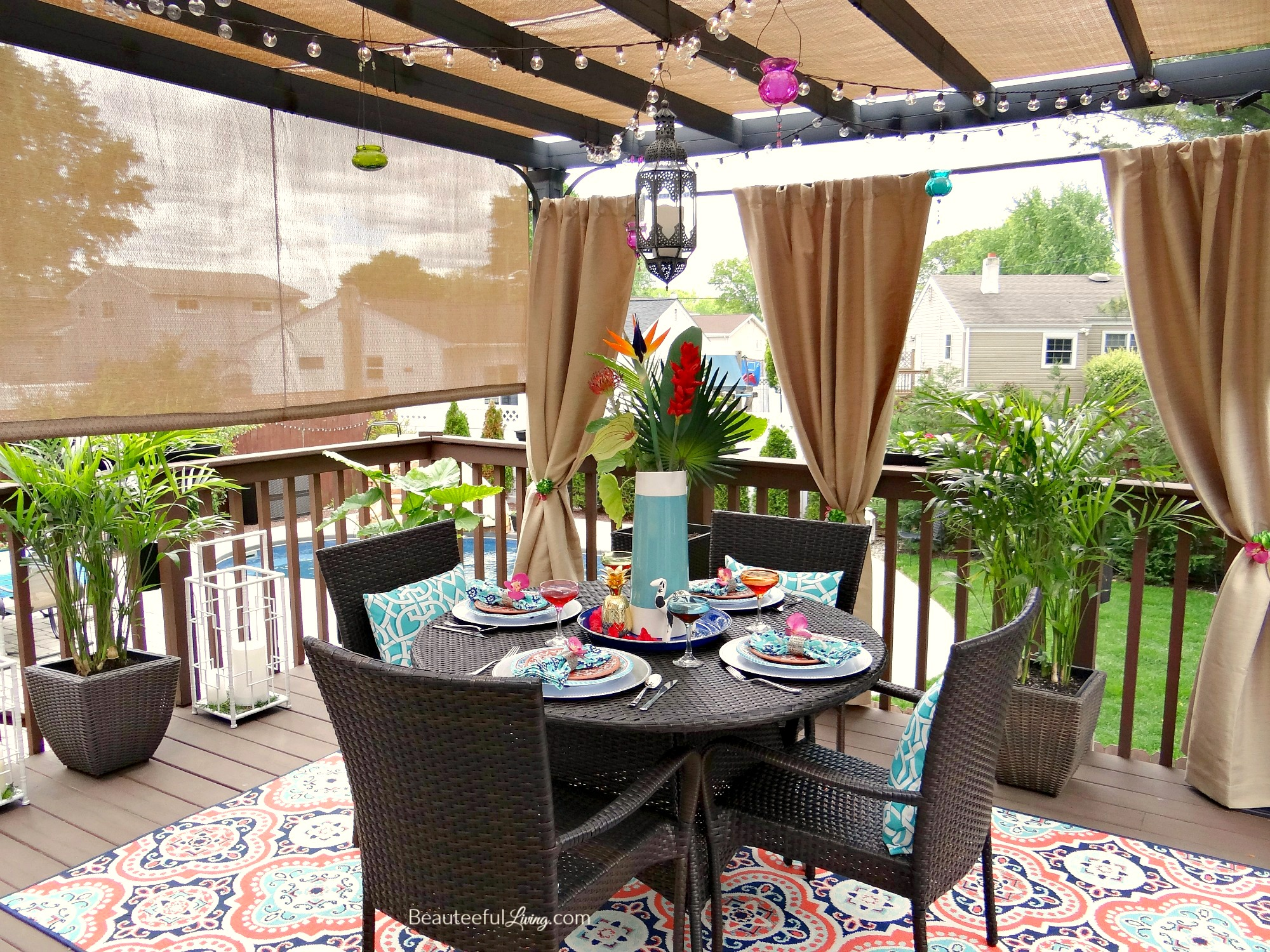 Tropical Patio   Beauteeful Living