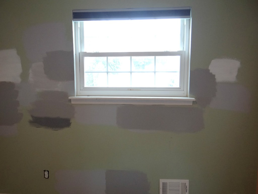 Gray Paint Samples on wall