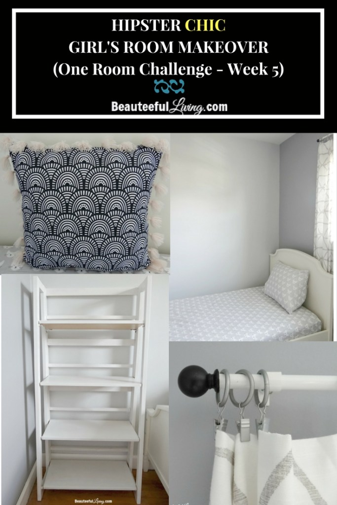Hipster Chic Girl's Room Makeover - Beauteeful Living
