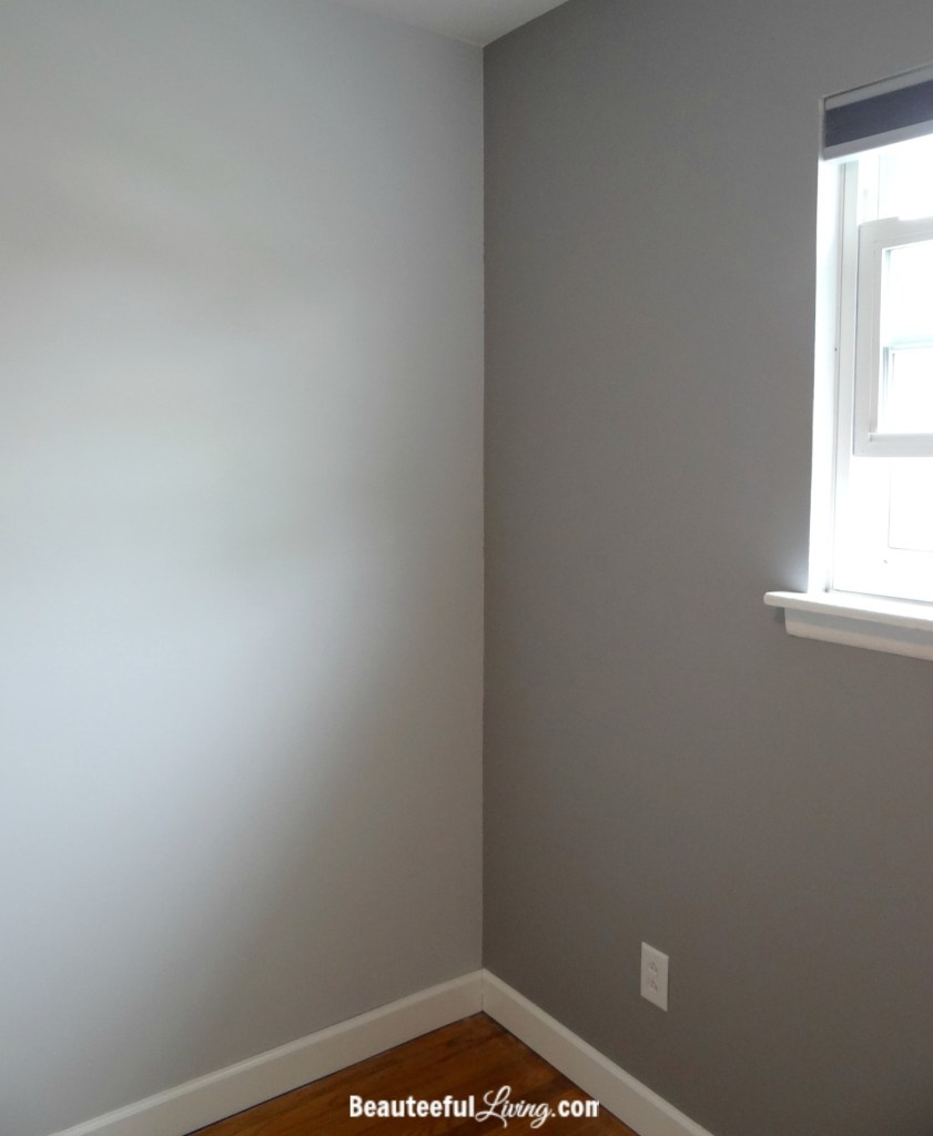 Light and dark gray paint