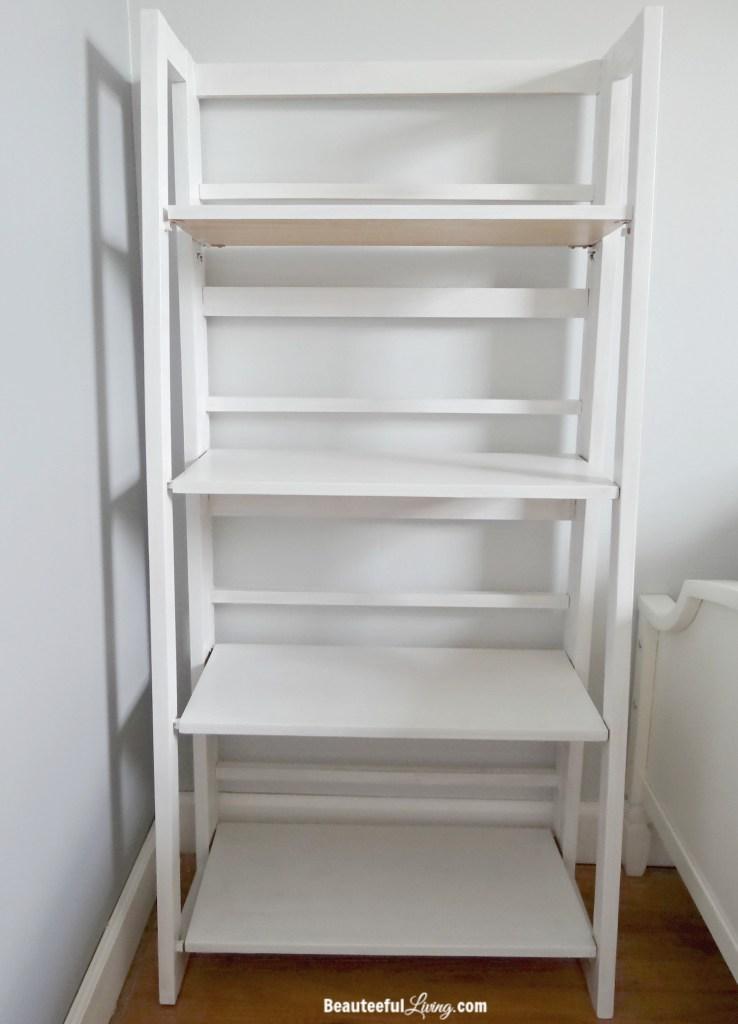 White refinished shelf