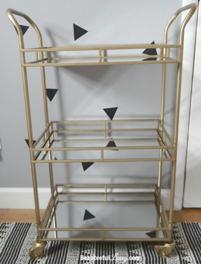 World Market Gold Bar Cart