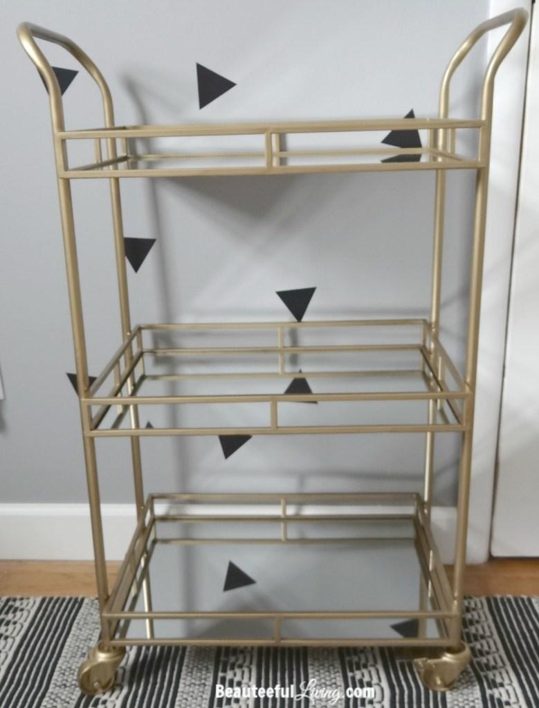World Market Gold Bar Cart