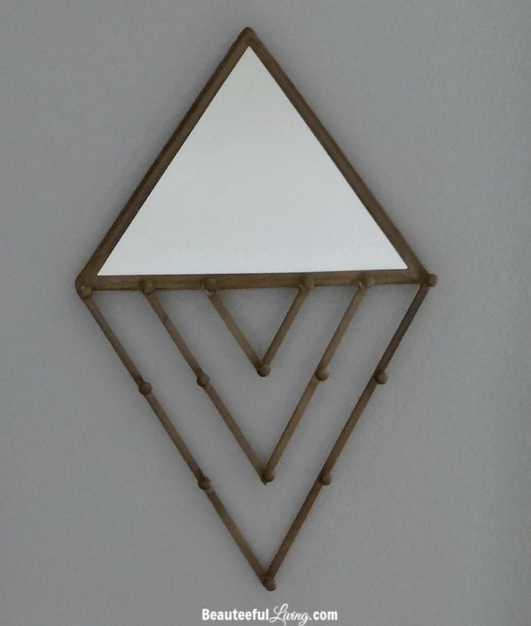 Triangle jewelry wall hang