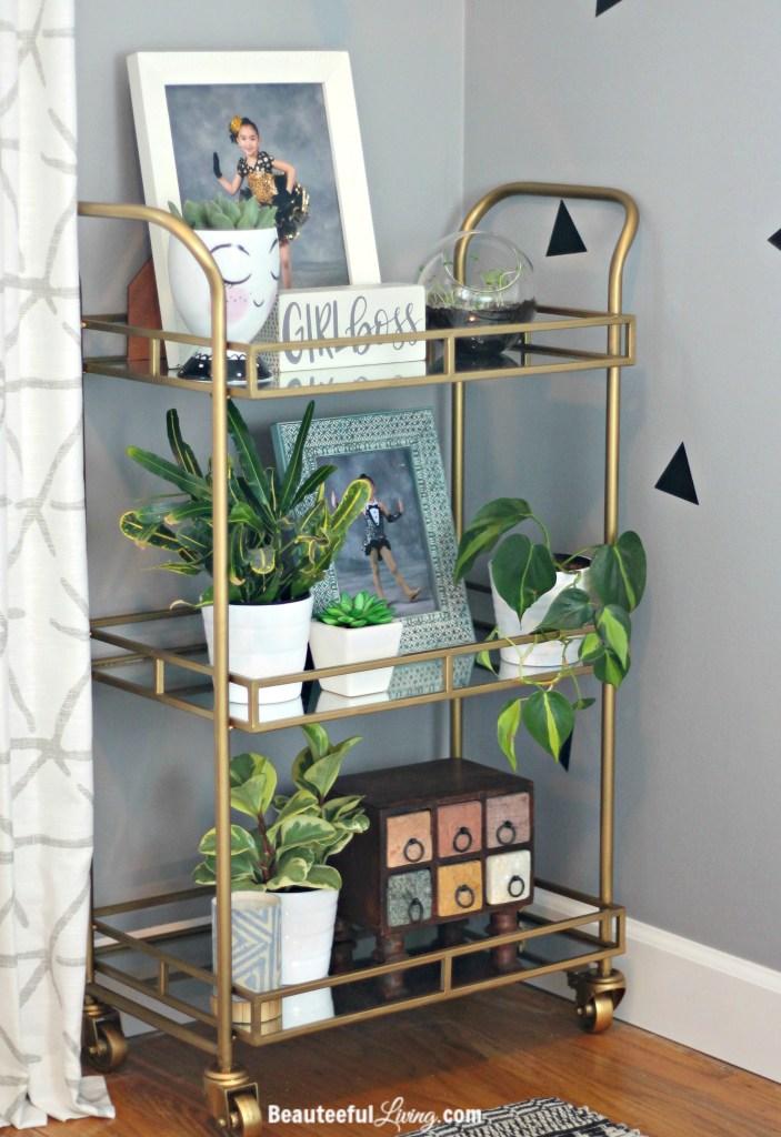 World Market Gold Bar Cart - Beauteeful Living