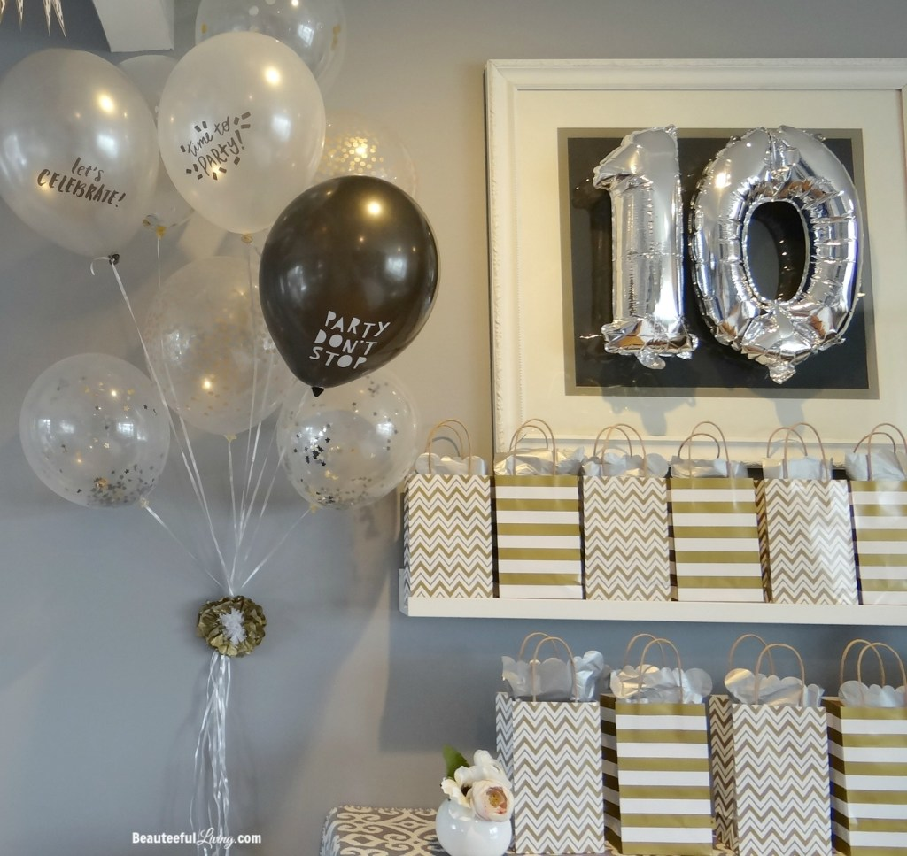 Birthday party decor - Beauteeful Living