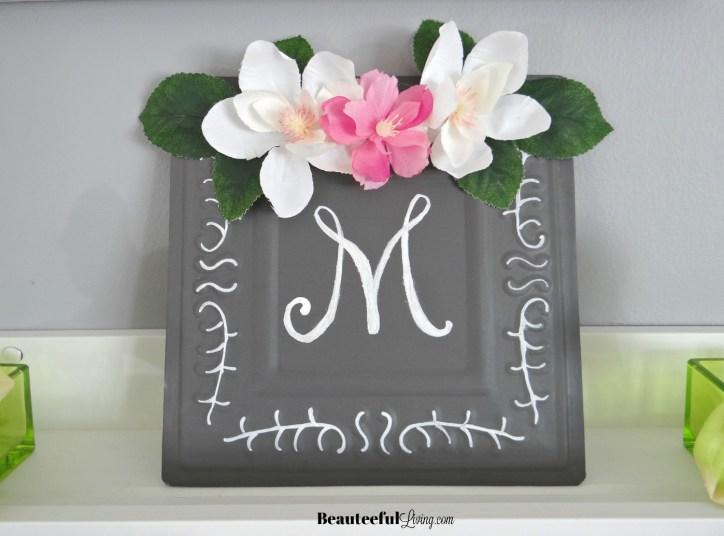 M Monogram sign - Beauteeful Living