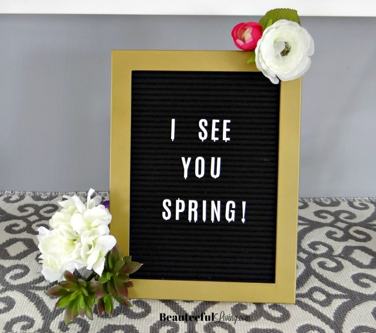 Spring Letter Board - Beauteeful Living